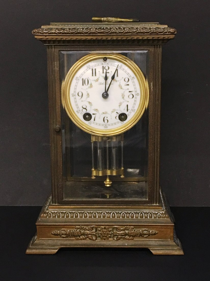 BRASS MANTLE CLOCK BY SETH THOMAS