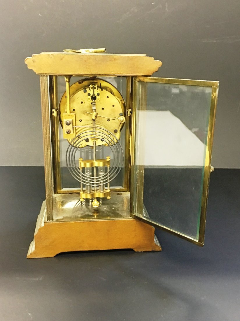 BRASS MANTLE CLOCK BY SETH THOMAS - 2