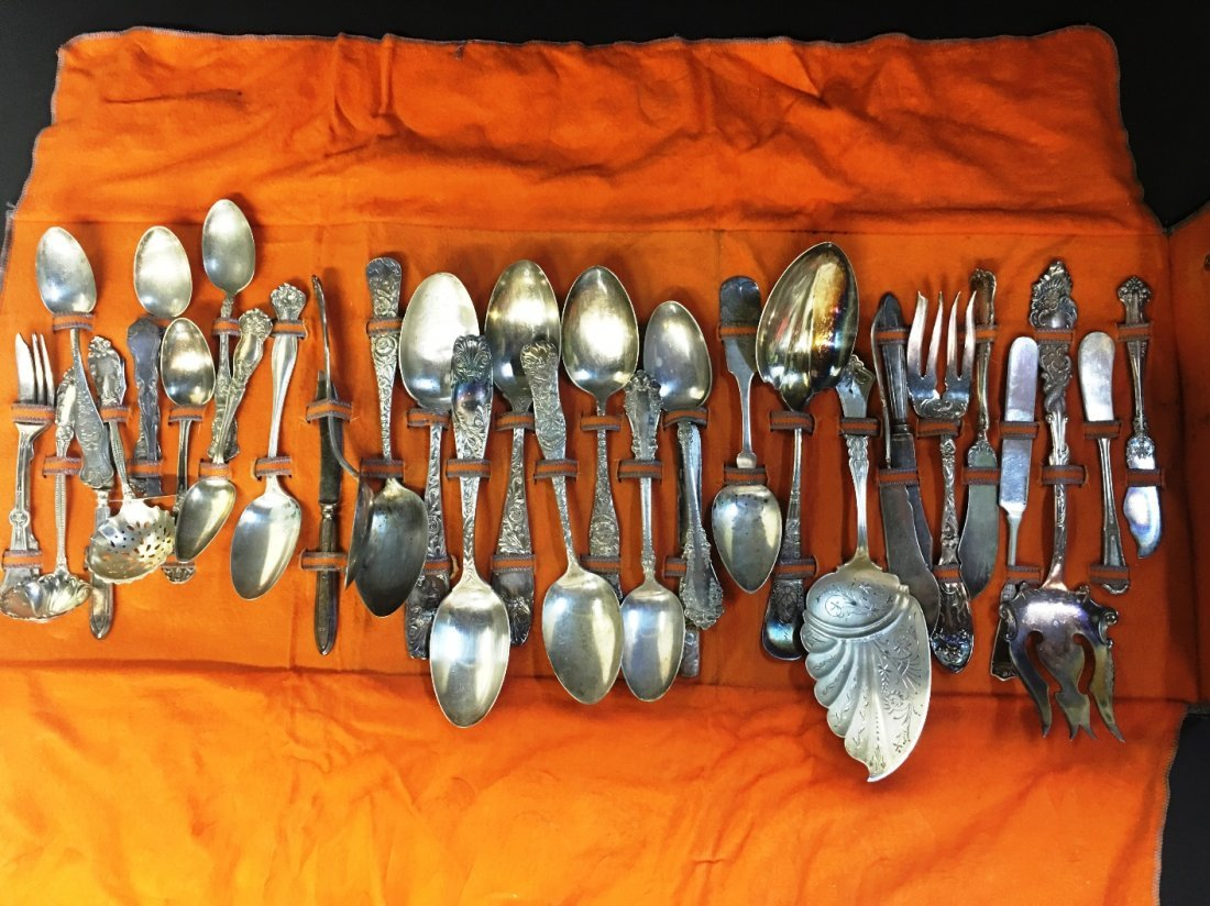 ECLECTIC COLLECTION OF SILVER PLATE  33 PCS
