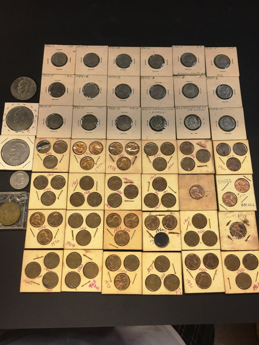 US COIN COLLECTION PENNIES NICKLES EISENHOWER SUSAN B