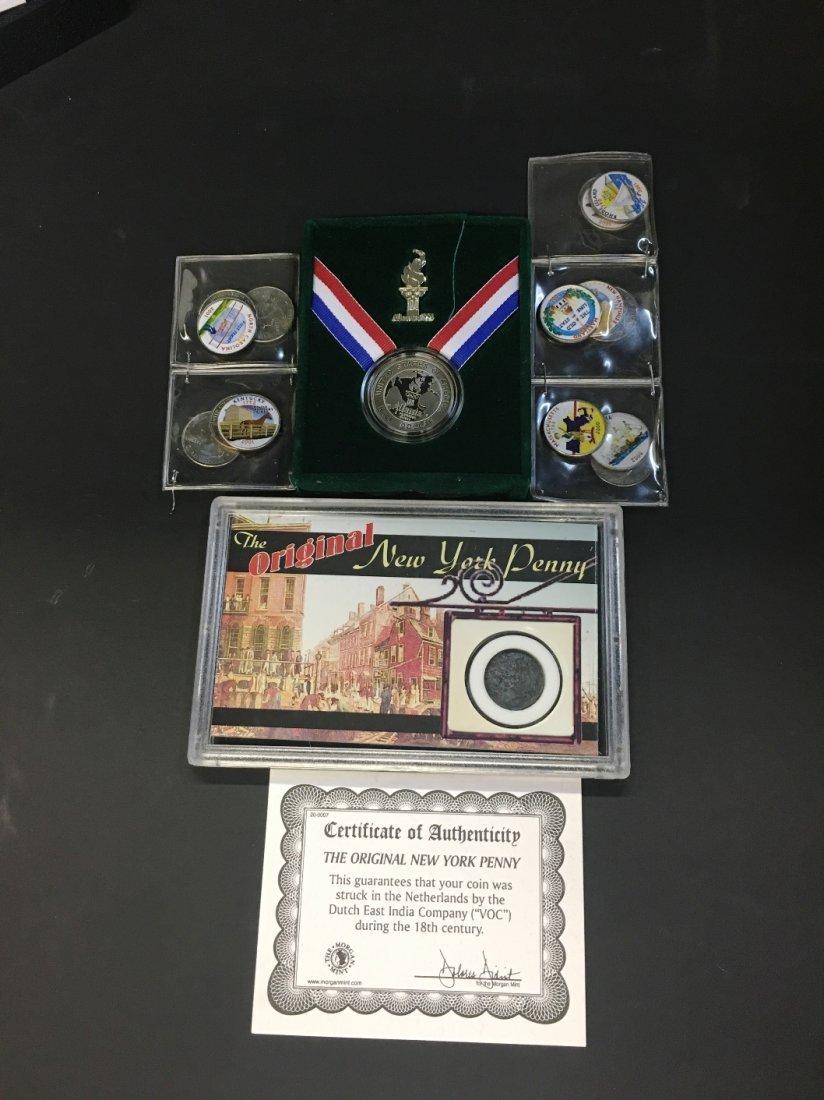 COIN COLLECTION NY PENNY ATLANTA OLYMPIC GAMES HALF