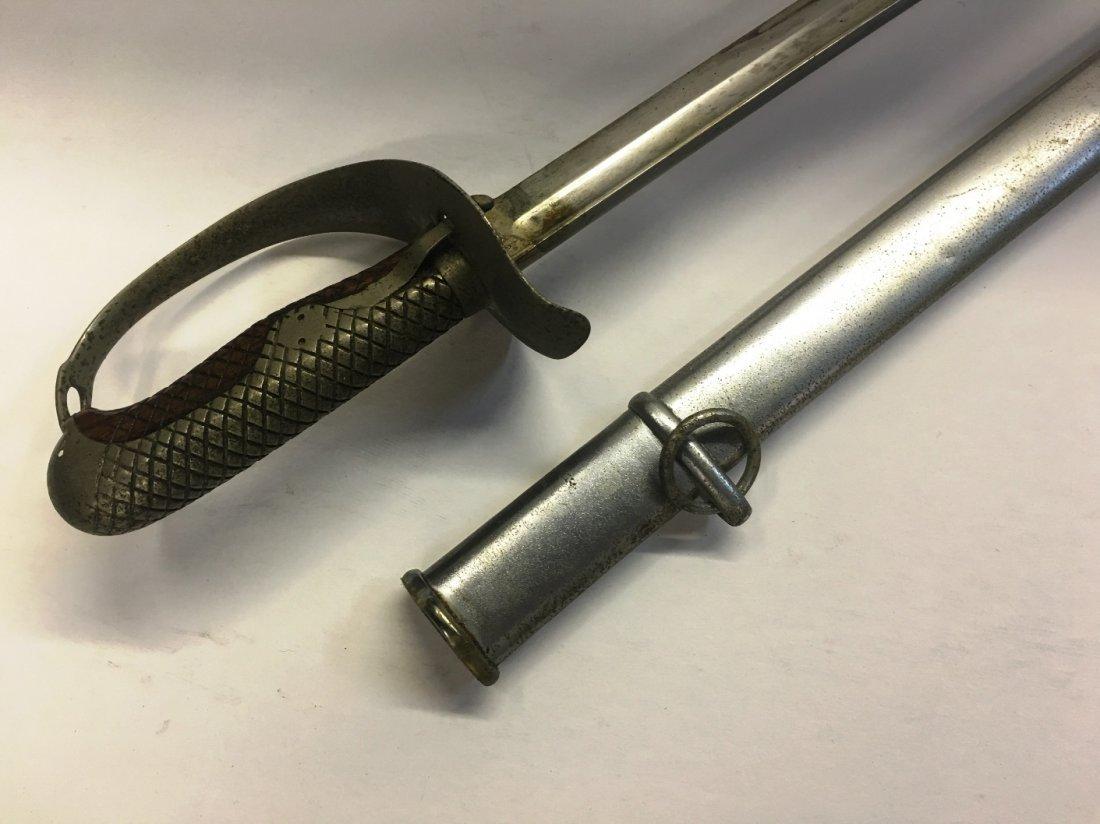 VINTAGE SWORD WITH METAL SHEATH - 2