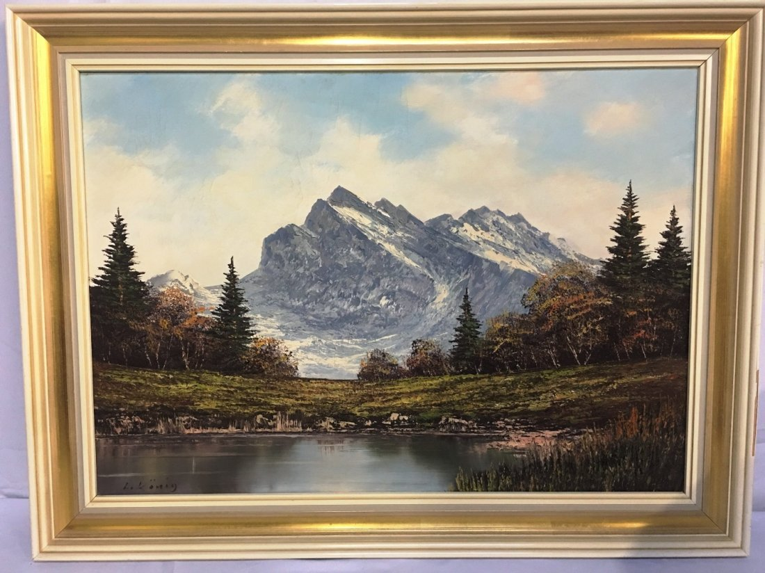OIL ON CANVAS BY L. KONIG MOUNTAIN