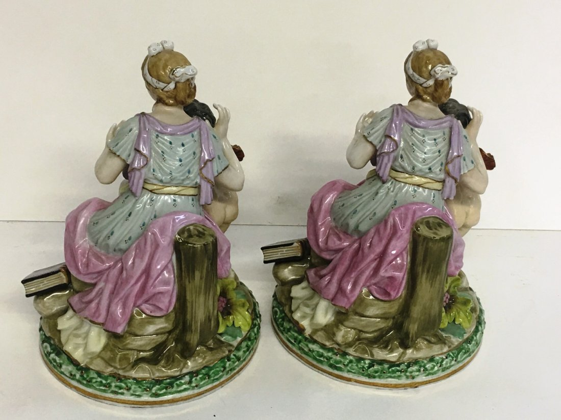 PAIR OF STAFFORDSHIRE STYLE FIGURES - 2