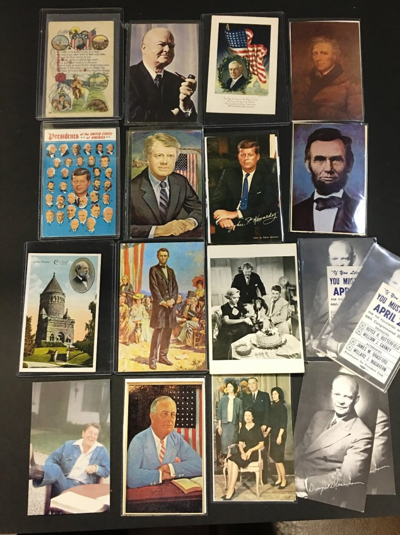 35 VINTAGE US PRESIDENT POST CARDS RONALD REGAN PLUS