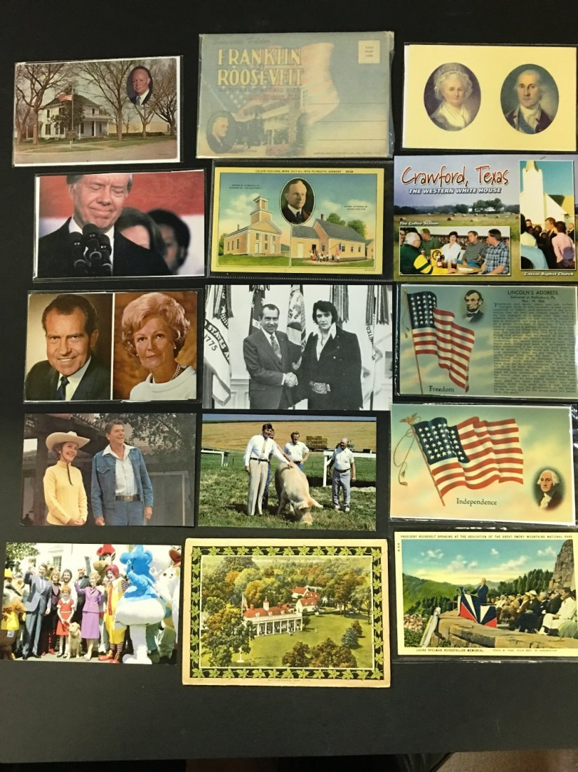 35 VINTAGE US PRESIDENT POST CARDS RONALD REGAN PLUS - 2