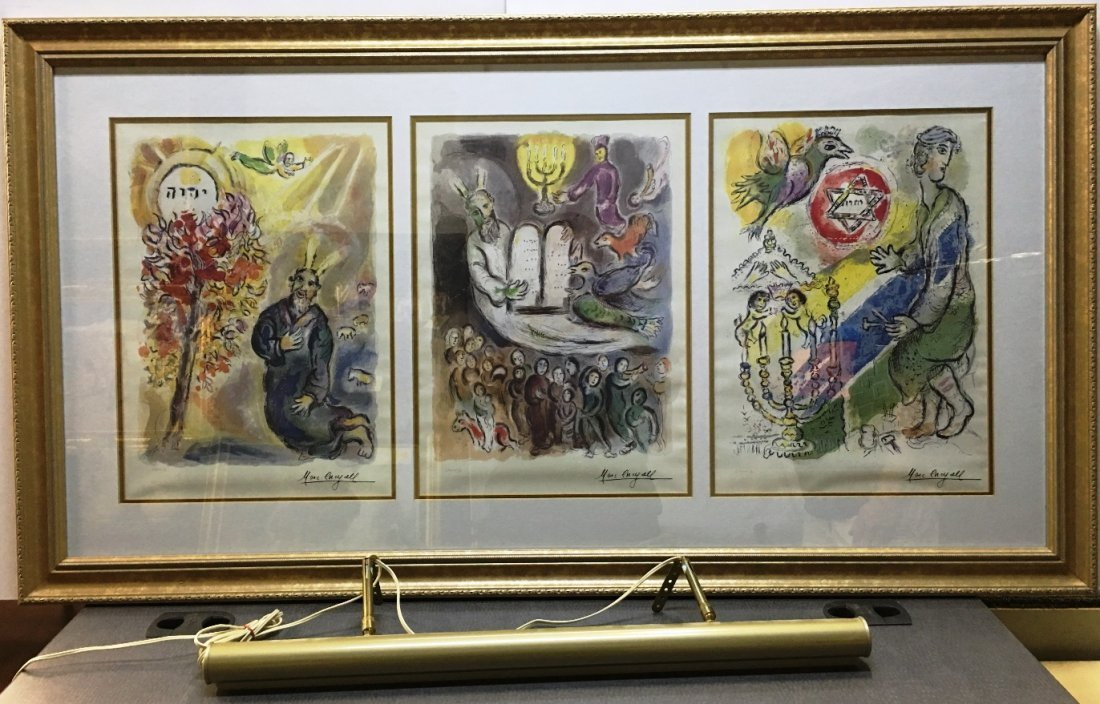 3 WORKS OF MARC CHAGALL FRAMED WITH C.O.A