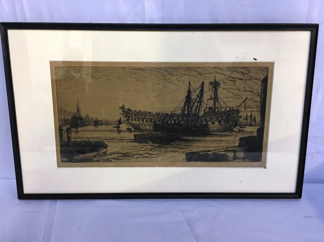 ETCHING BY SIR FRANCIS SEYMOUR HADEN