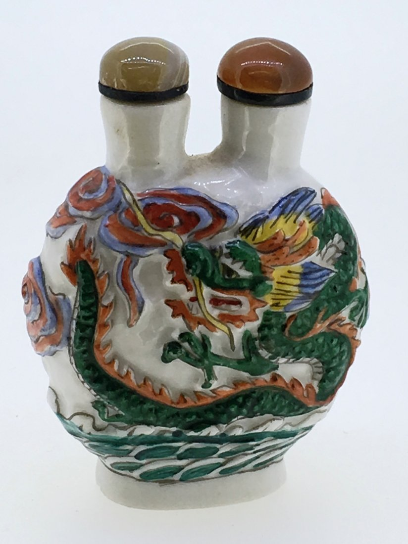 DOUBLE DRAGON 2 CHAMBER SNUFF BOTTLE