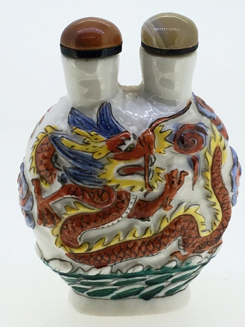 DOUBLE DRAGON 2 CHAMBER SNUFF BOTTLE - 2