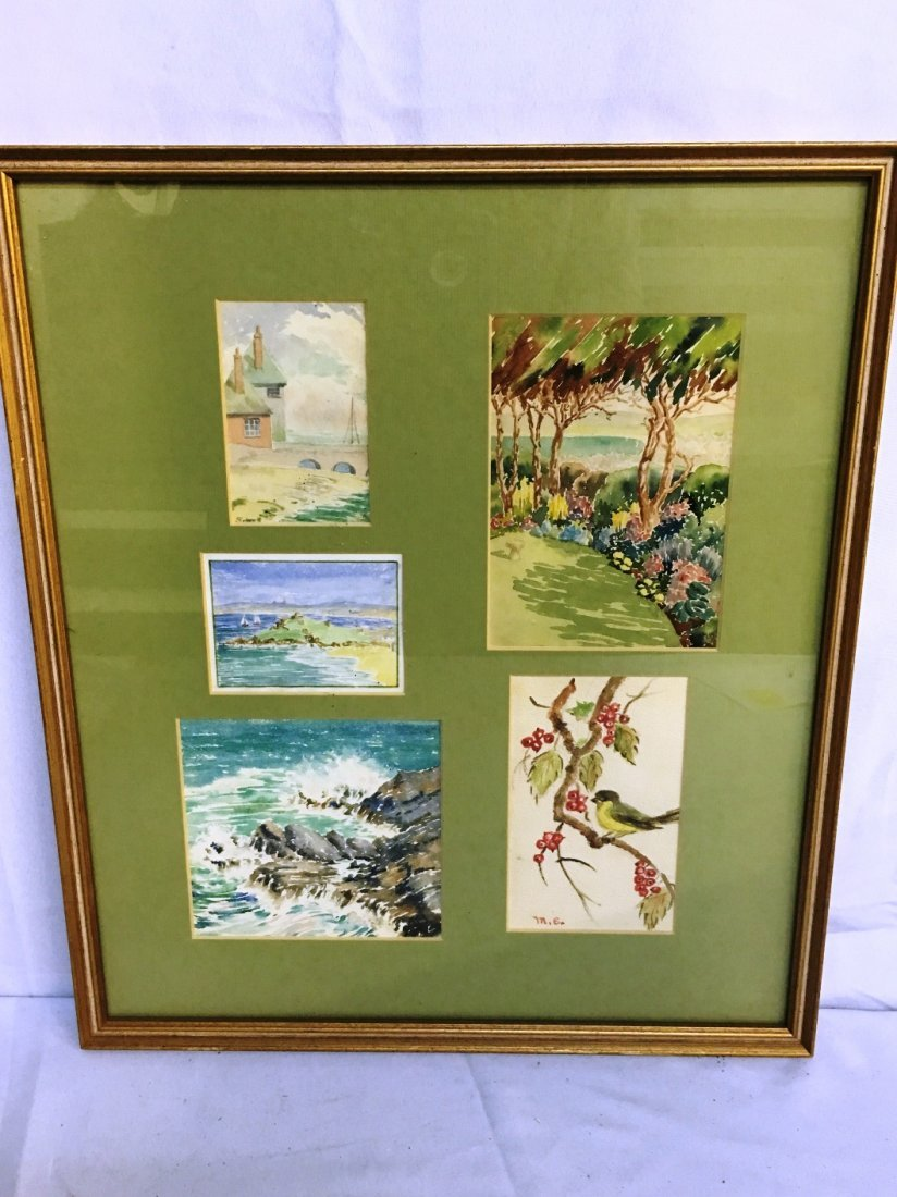 5 WATERCOLORS IN 1 FRAME MARKED