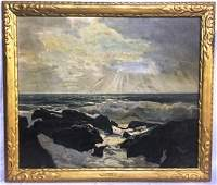 OIL ON CANVAS SIGNED FEDERICK J. WAUGH