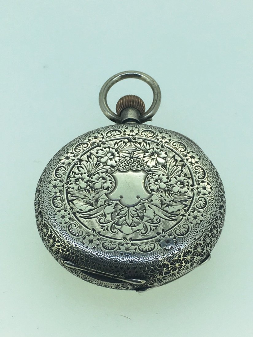 STERLING SILVER POCKETWATCH - 2