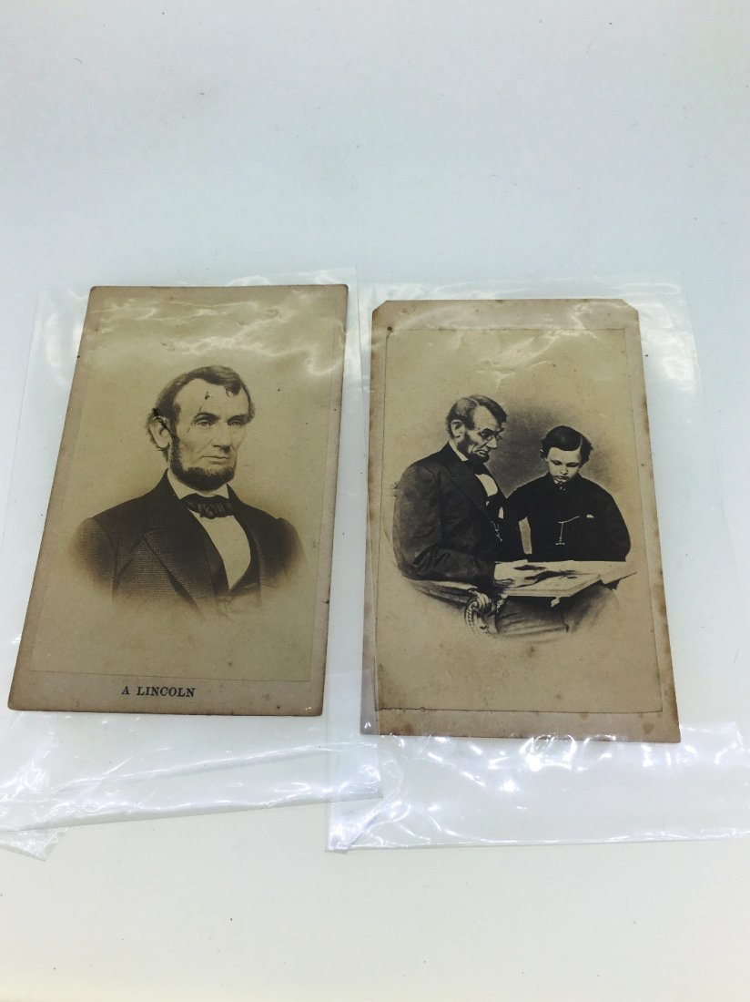 PAIR OF VINTAGE ABRAHAM LINCOLN CARDS
