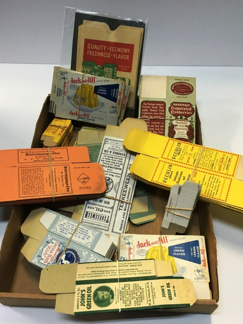 ASSORTED VINTAGE ADVERTISEMENT BOXES