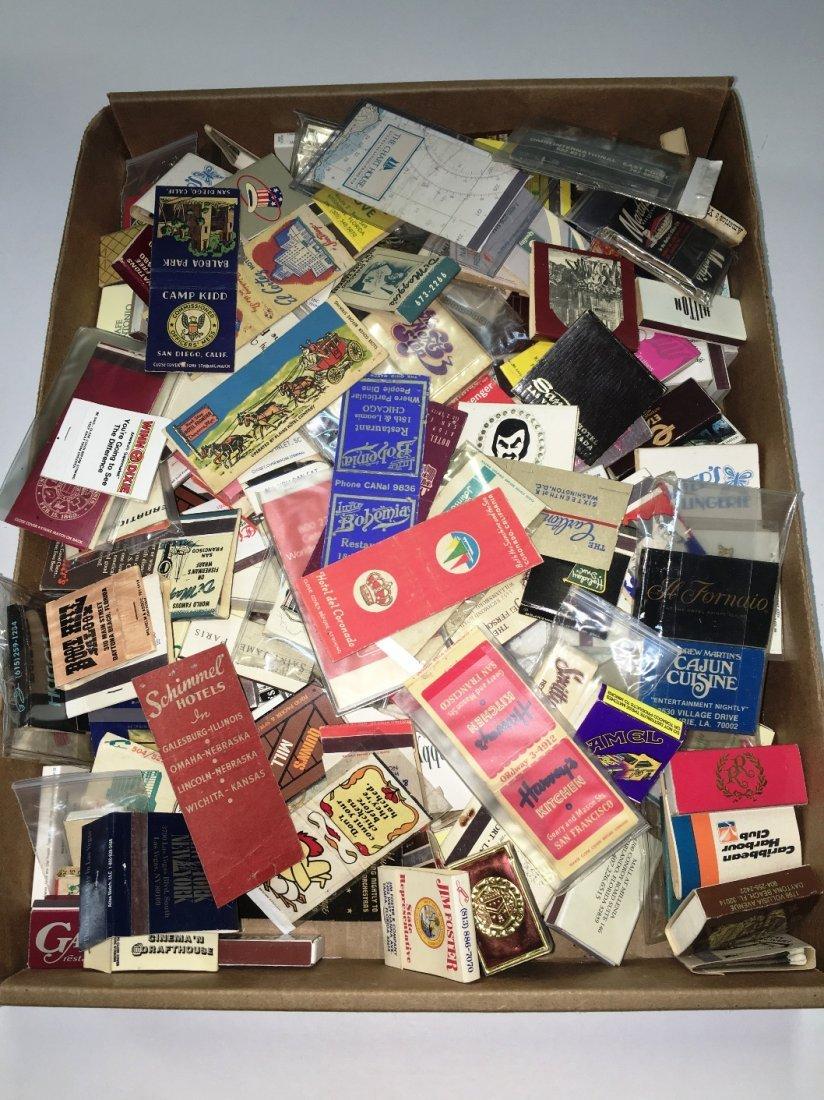 OVER 200 VINTAGE MATCH BOOKS