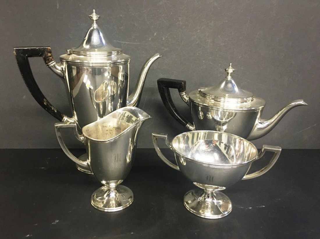 TIFFANY & CO MAKERS STERLING 4PC TEA SERVICE