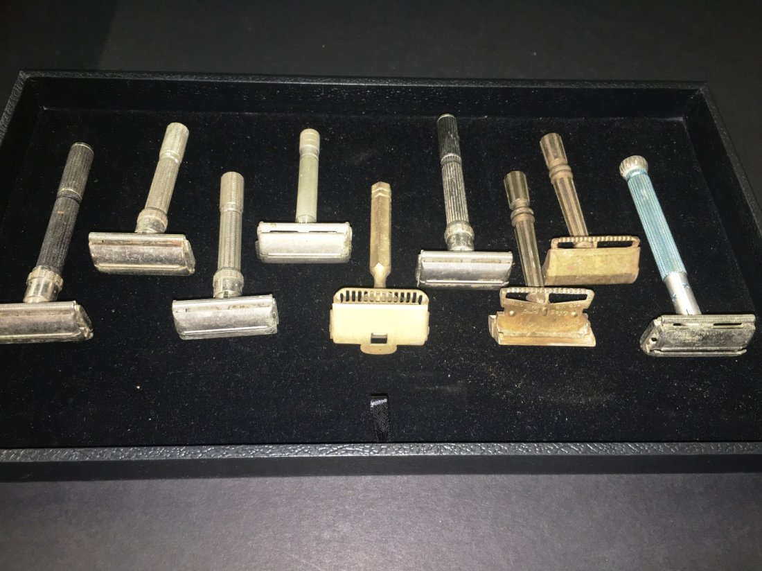 9 EARLY TO MID 20TH CENTURY VINTAGE RAZORS