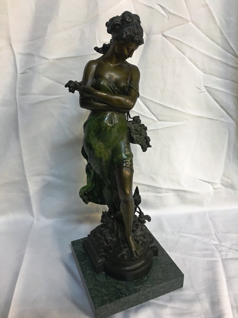 HIPPOLYTE HIP MOREAU BRONZE SCULPTURE