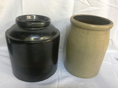 TWO POTTERY JARS