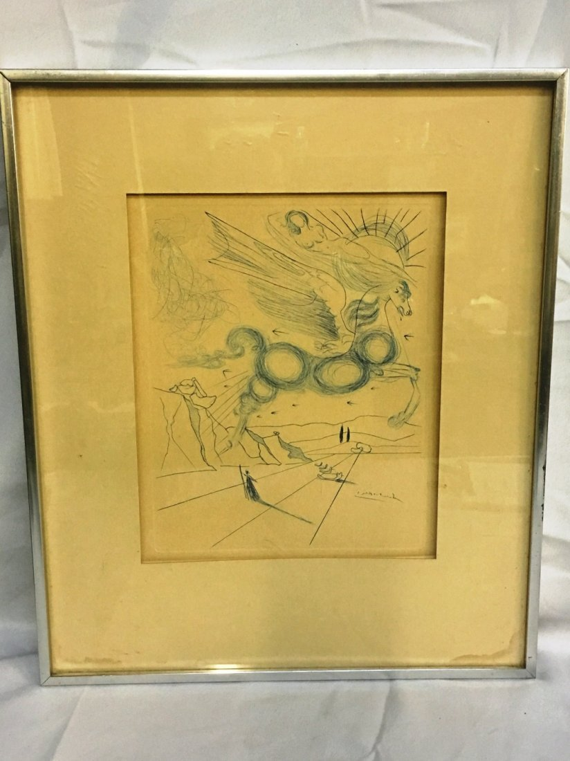 PABLO PICASSO LITHOGRAPH WINGED HORSE