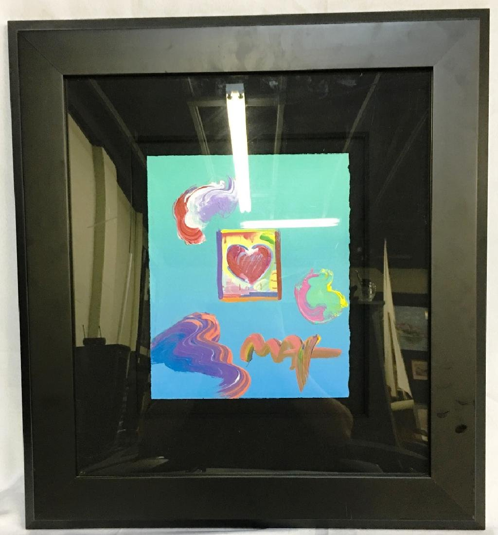 "HEART SERIES BY PETER MAX W/ COA 21""23"""