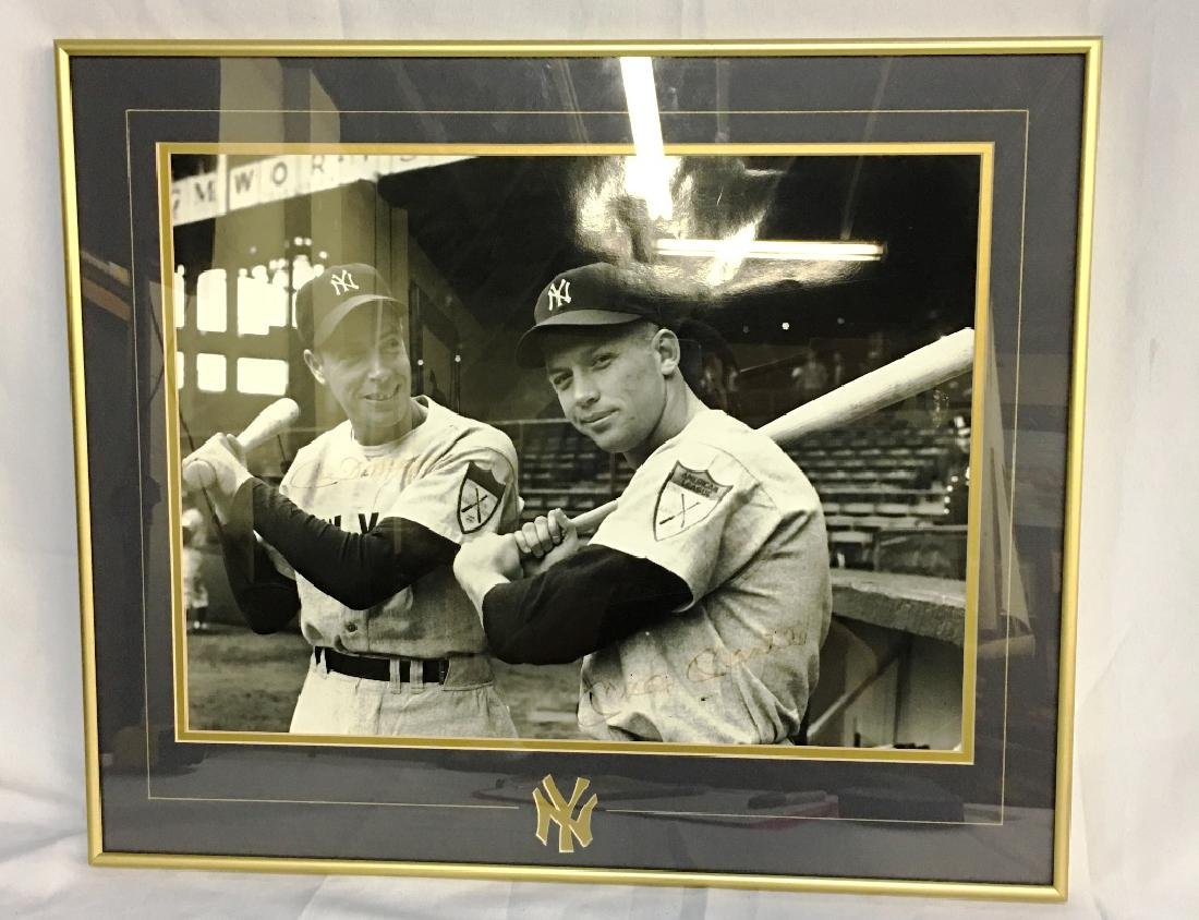 MICKY MANTLE + JOE DIMAGGIO AUTOGRAPHED PICTURE