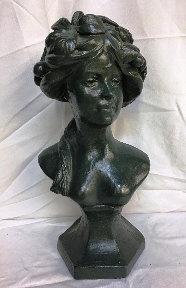 FEMALE BUST (CONCRETE PROBABLY)