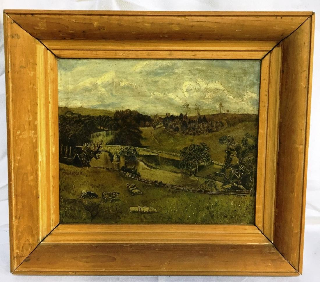 OIL ON CANVAS UNKNOWN ARTIST COUNTRY SETTING