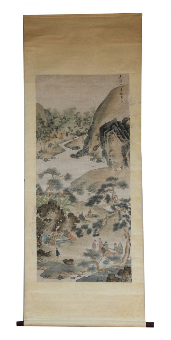8: Chinese scroll painting by Qiu Ying