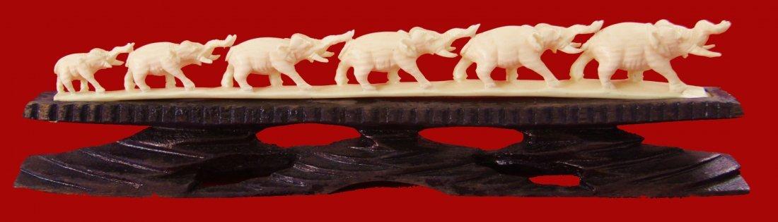 13:Chinese Ivory Carving Elephants