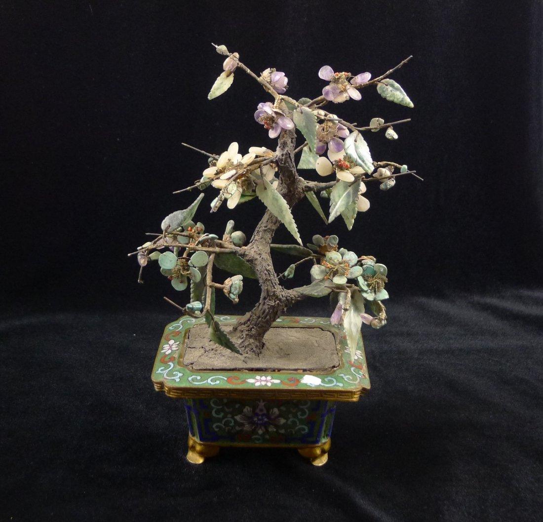 8: A Vintage Jade miniature tree
