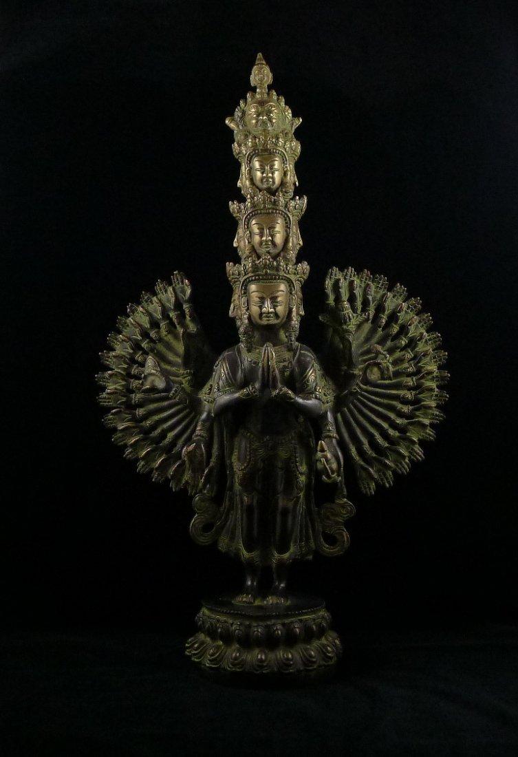 9: A Vintage Bronze Avalokitesvara