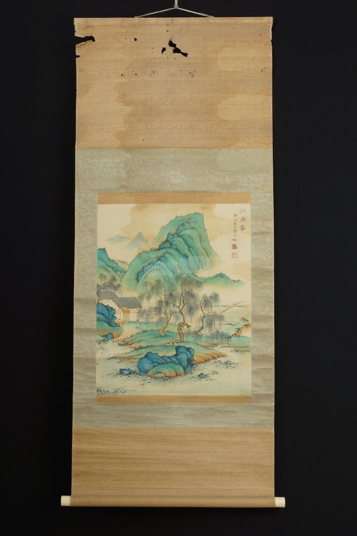 12: Chinese scroll painting by Chen Shaomei
