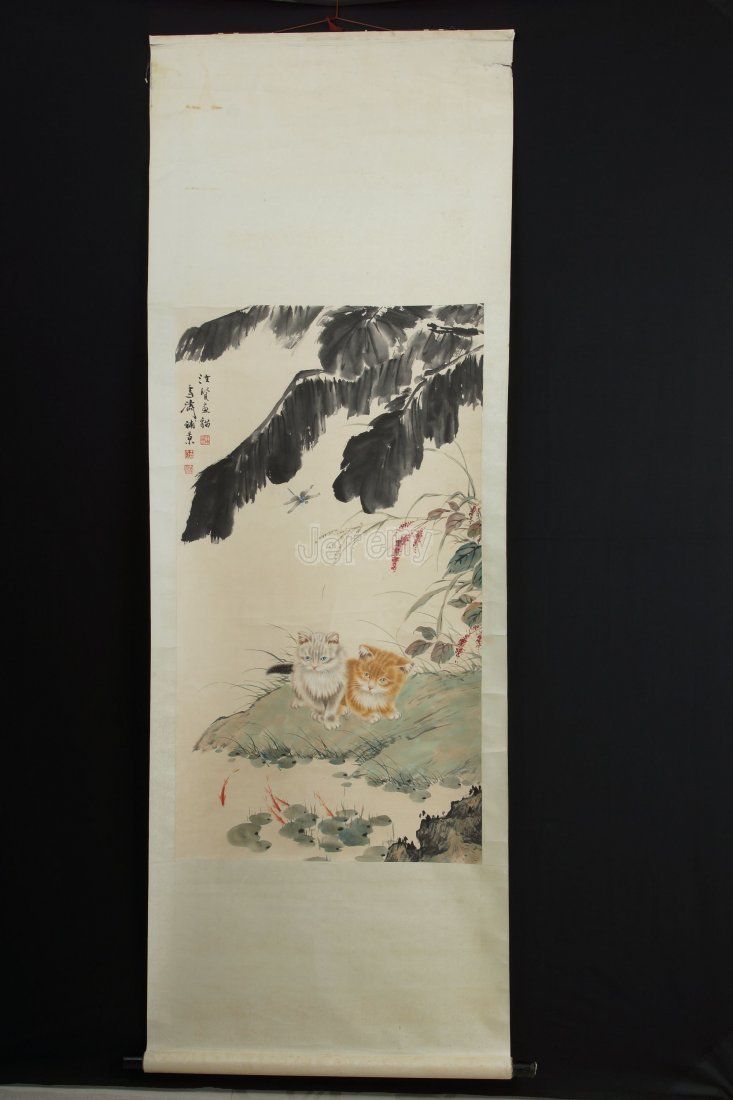 15: Chinese Scroll painting by Wang Xuetao