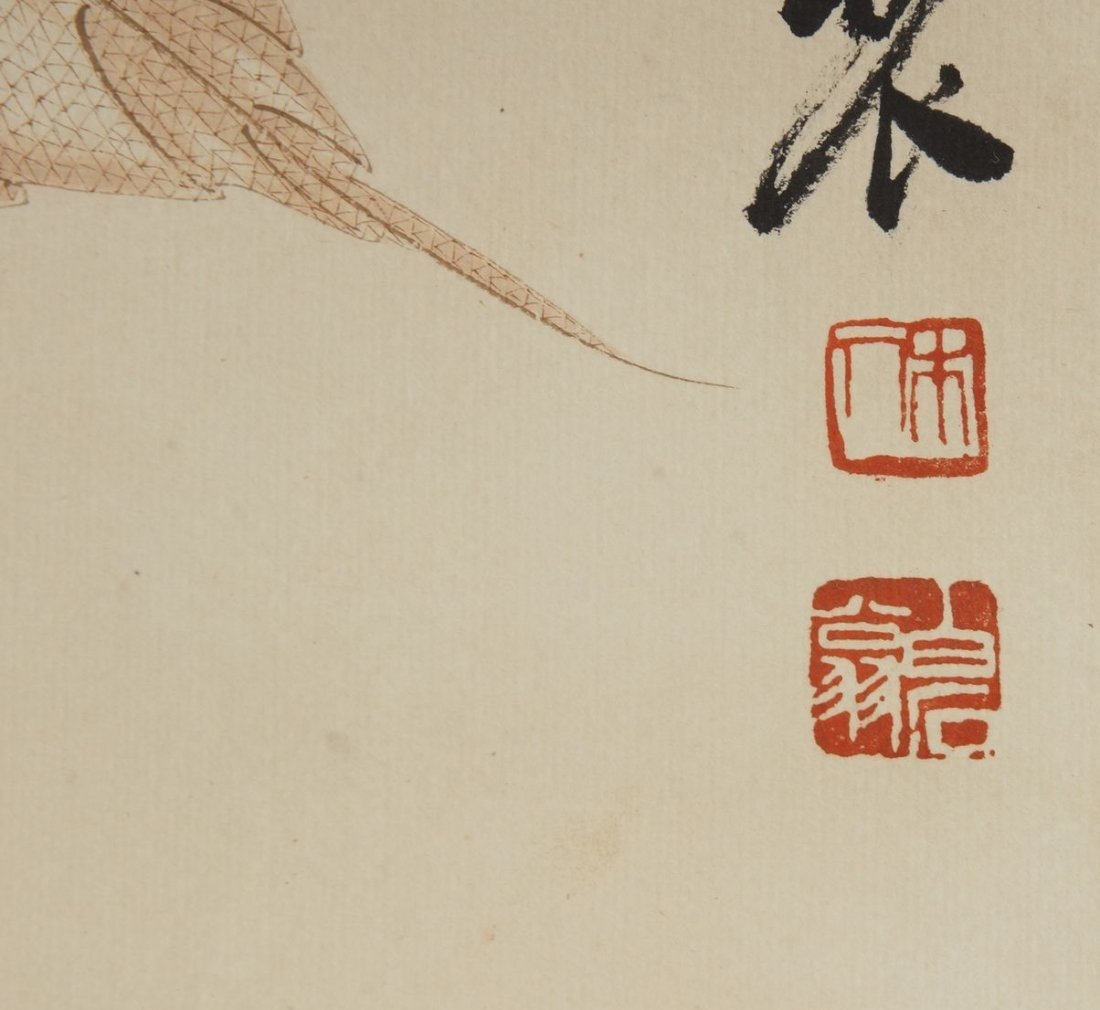 4: Chinese Scroll Painting by Qi Baishi - 3