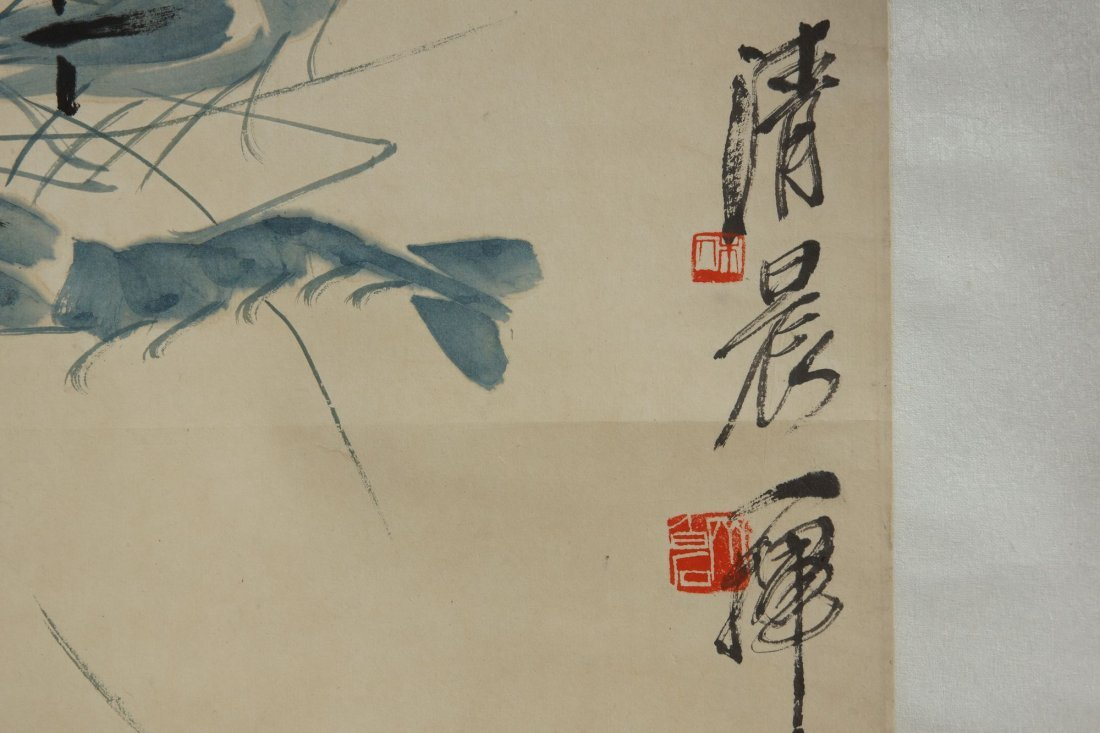 9: Chinese Scroll Painting by Qi Baishi - 2