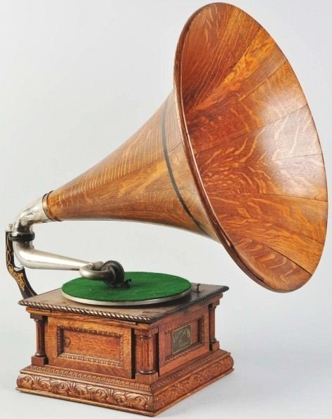 197: Antique  Monarch Special Phonograph with Horn.