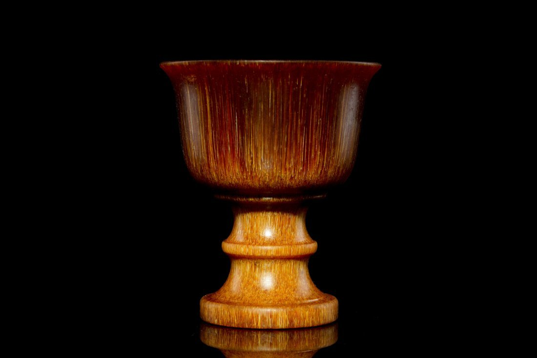6: 19th C Chinese  Carved Horn Cup