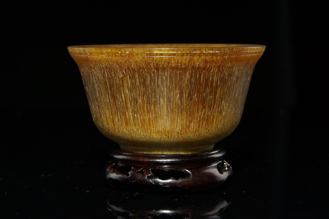3: 19th C Chinese Carved Horn Bowl