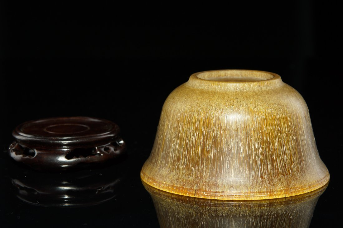 3: 19th C Chinese Carved Horn Bowl - 3
