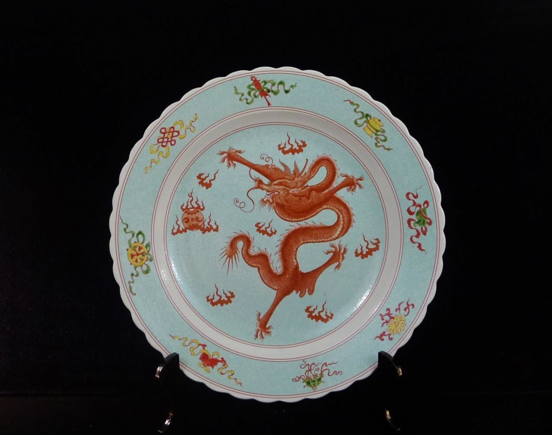 24: Chinese Porcelain Big Plate Decoration
