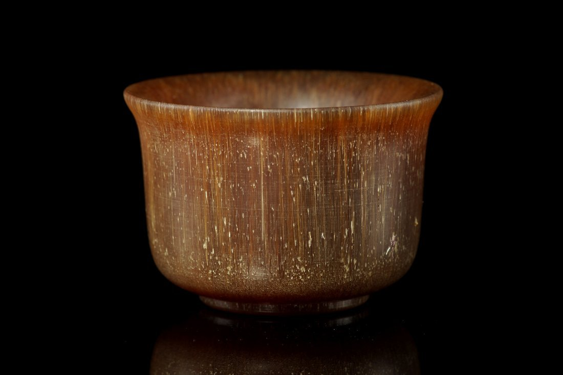 124: Vintage Chinese Horn Bowl - 2