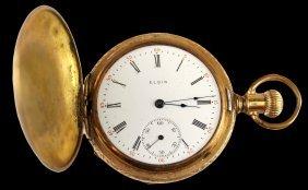 ELGIN WATCH CO 1910 HUNTER CASE 15 JEWELS POCKET WATHch