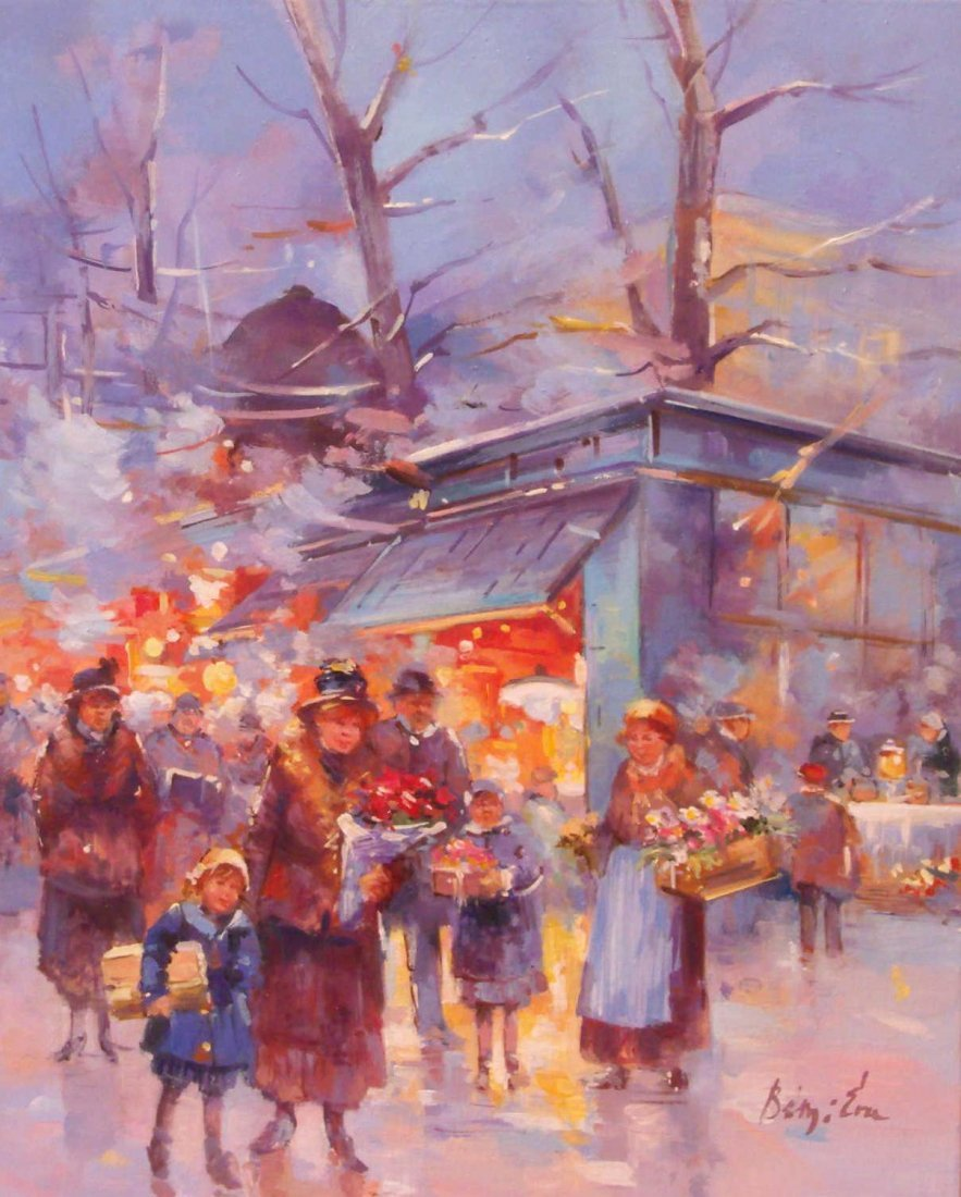 1: Eva Benyi: Flower Market in Evening