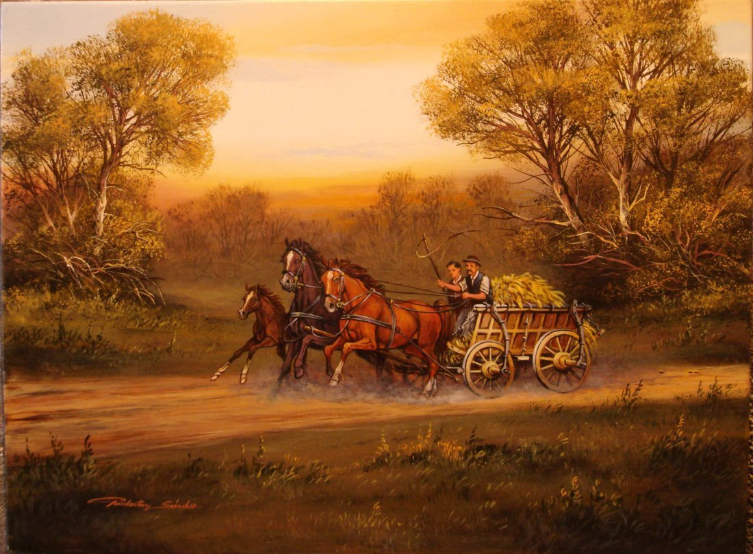 17: Sandor Pankotai: Carriage Horses