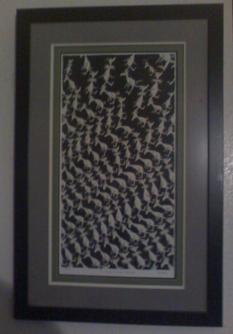 """138: Dr. Suess (Ted Geisel) Hand-pulled Serigraph. """"Eco"""