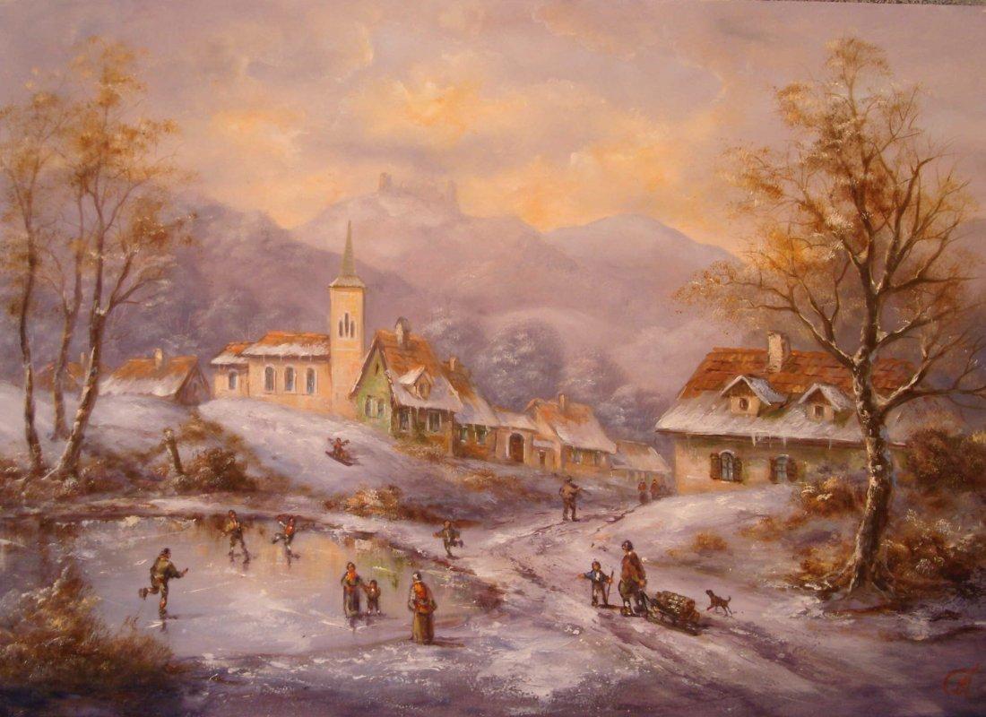 18: Tamas Mehesz: Winter Landscape