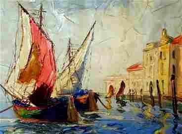 71: Z. Rime L. (Painted 1930-1940): Harbor
