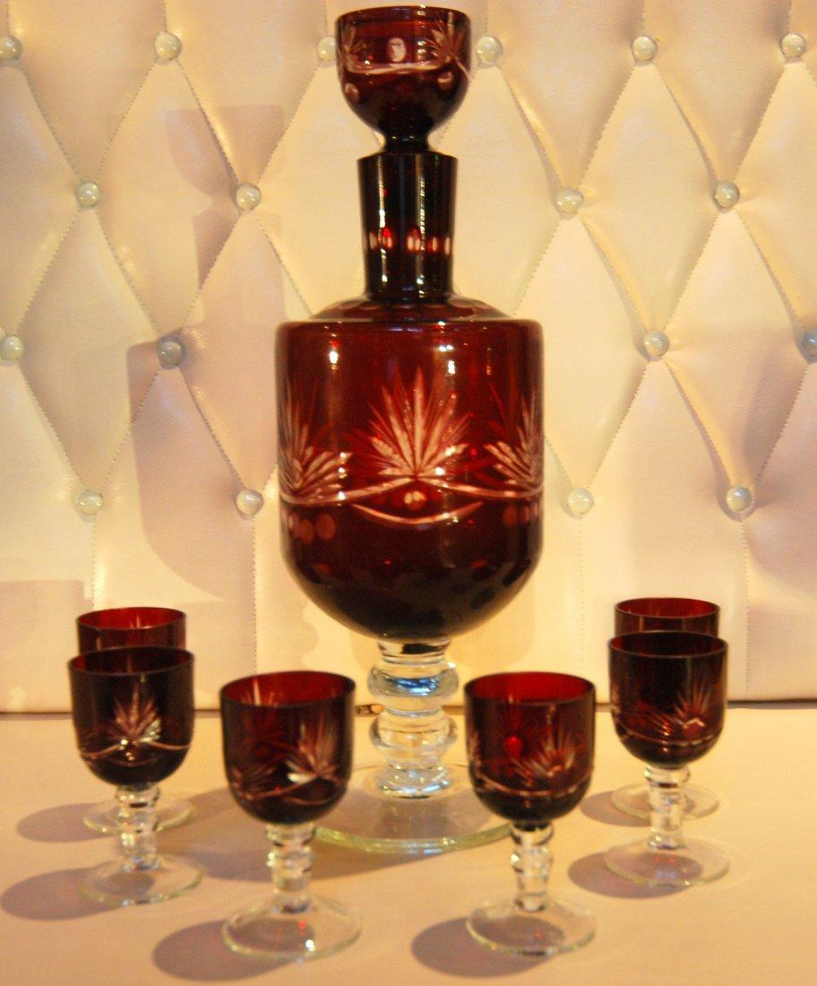 17: Bohemia liquor set